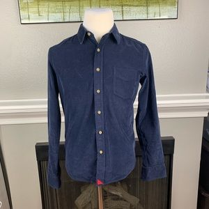 UNTUCKit Blue Cordoroy LS Button Up Shirt Sz M EUC
